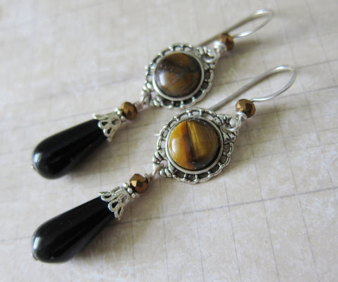 Gilly's Practical Magic Tiger Eye Earrings