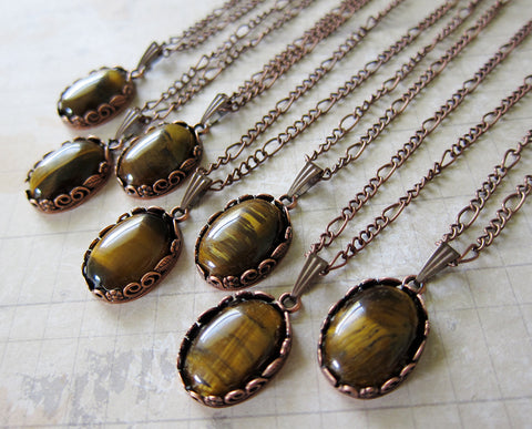 Gilly's Tiger Eye and Copper Talisman