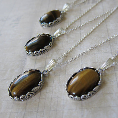 Gilly's Tiger Eye and Silver Talisman