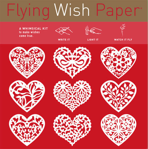 Scarlet Hearts - Mini Wish Paper Kit