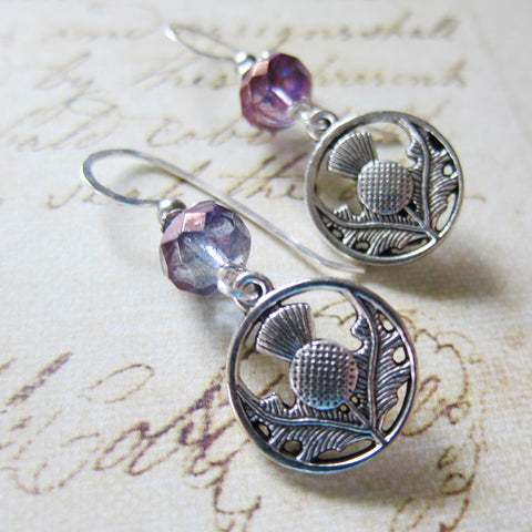A Highland Promise: Thistle Charm Earrings