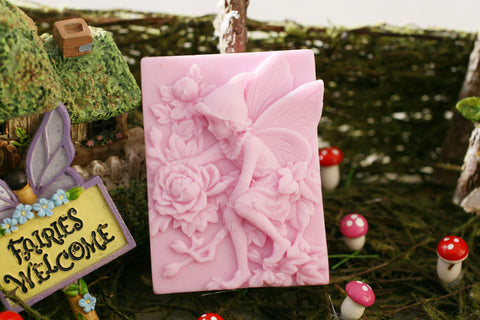 Pink Garden Fairy with Hat Soap