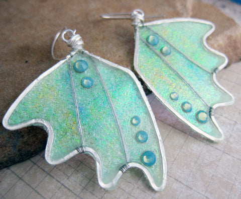 Glow in the Dark Sihaya Designs Bat Wing Earrings