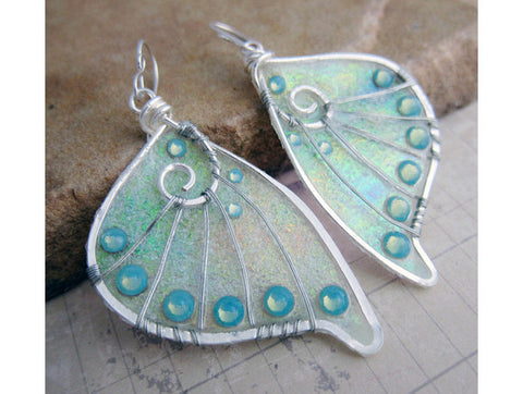 Glow in the Dark Sihaya Designs Faery Wing Earrings