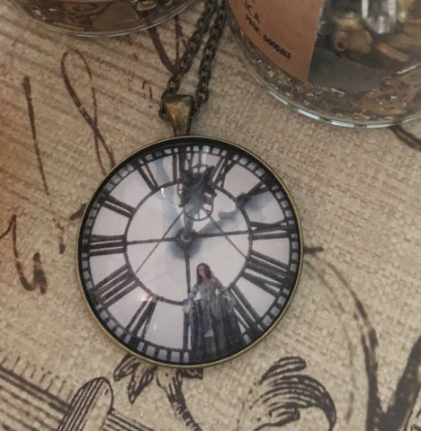 Outlander Clock Tower Looking Glass Pendant