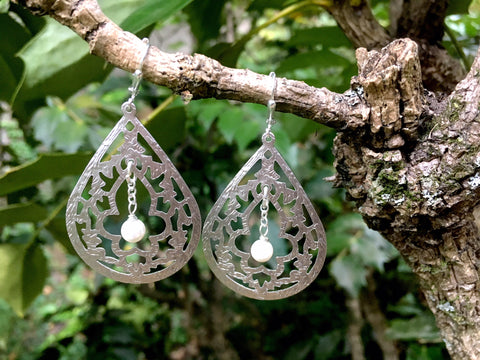 Silver Taj Mahal Earrings