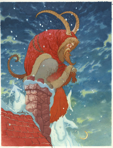 1 Year Gift Sub & Charles Vess Krampus Card