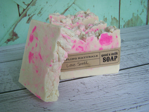 Love Spell Goat's Milk Soap with silk
