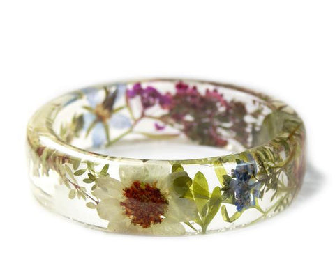 Magical Flower and Herb Resin Bracelet