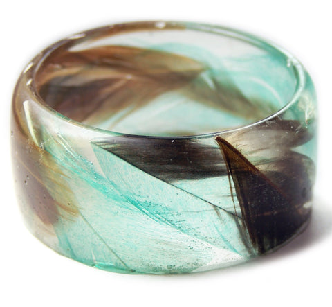 Moonlight Feather Resin Bracelet