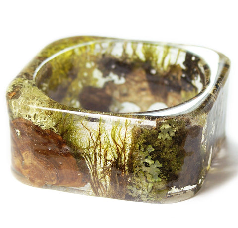 Wide Forest Mix Bracelet