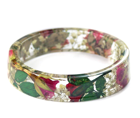 Bouquet of Roses Resin Bracelet