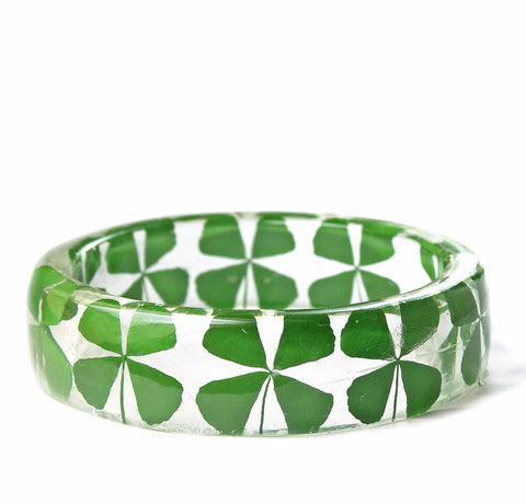 Four Leaf Clover Resin Bracelet