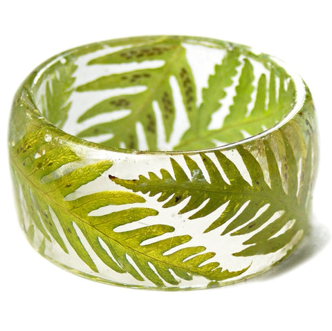 Forest Fern Resin Bracelet