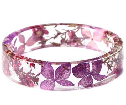 Mystic Flower Resin Bracelet