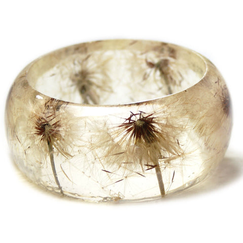 Dandelion Wish Resin Bracelet