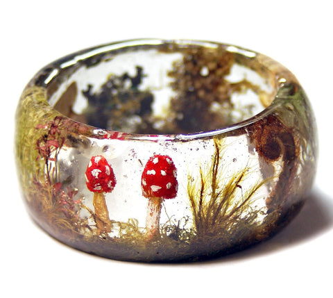 Forest Floor Resin Bracelet