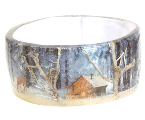 Winter Woods Resin Bracelet