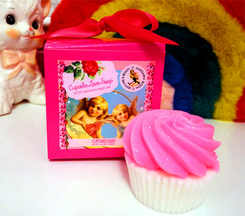 Strawberry Cupcake Love Soap