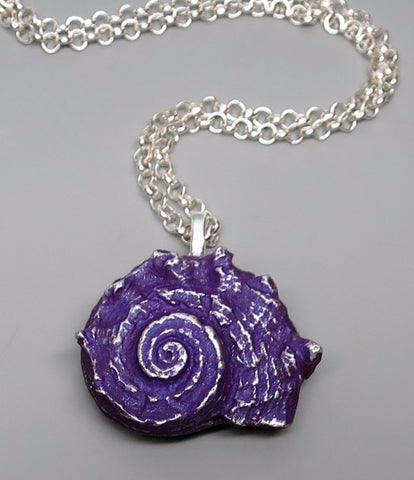 Medium Purple Shell Pendant
