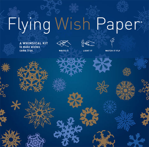 Midnight Blue Flying Wish Paper, Large Kit
