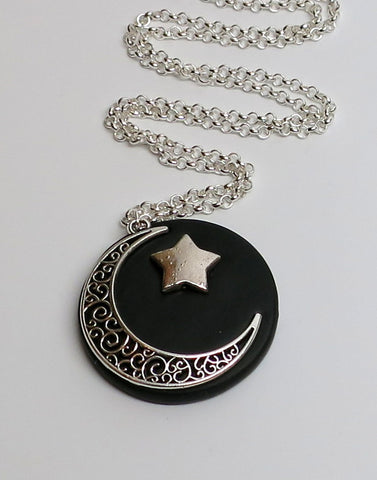 Midnight Moon Celestial Pendant
