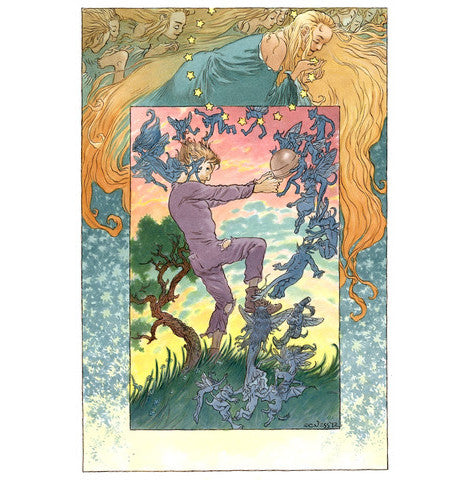 Tristran Wrestles with the Faeries - Signed Art Print