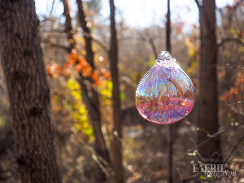 Magical Glass Fairy Orb - Gentle Soft Pink