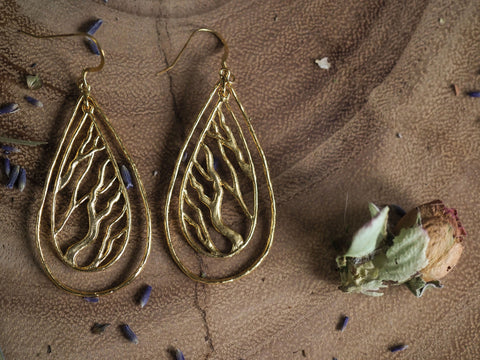 Double Teardrop Earrings