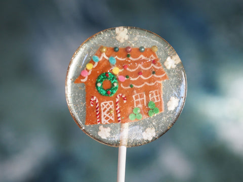 Gingerbread House Lolliops w/ Wreath (One)