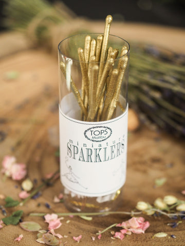 Gold Mini Sparklers - Set of 16