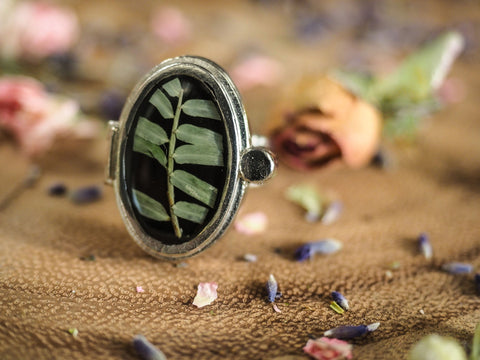 Bamboo Locket Ring