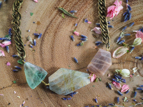 Gemstone collar necklace