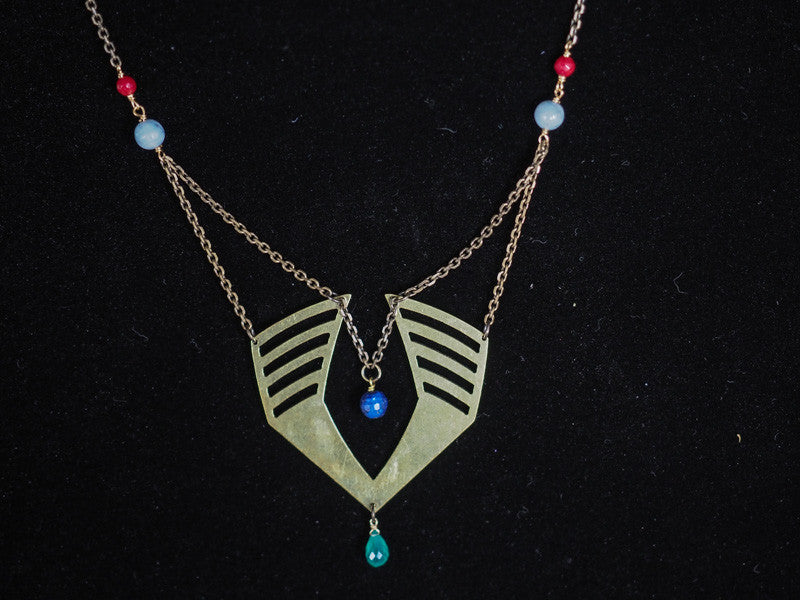 necklace amanda treasure hummingbird blu