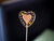 Glittered Marzipan Heart Cotton Candy Flavored Lollipop (One)