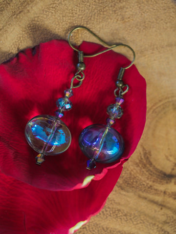 Iridescent Glass Earrings