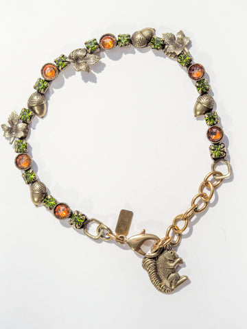 Leaves and Acorns Bracelet