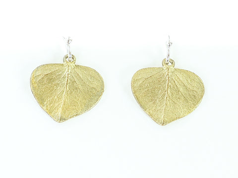 Eucalyptus Leaf Wire Drop Earring
