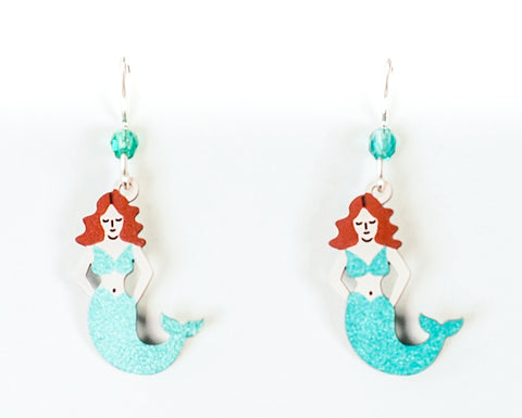 Hand Painted Mermaid Earrings