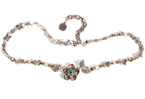 "Butterflies in ""The Garden of Eden"" Necklace"