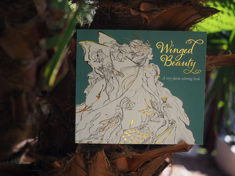 WINGED BEAUTY, a very faerie coloring book