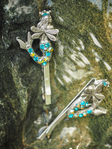 Winged Mermaid Hair Pins (Two)