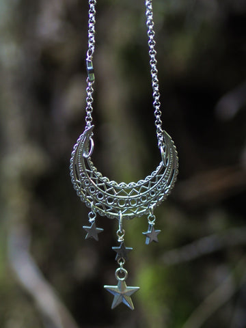 Moon and Stars Necklace