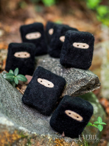 Felted NINJA Soap Bar