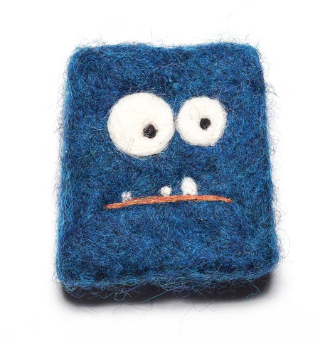 Felted soap MONSTER in Blue!