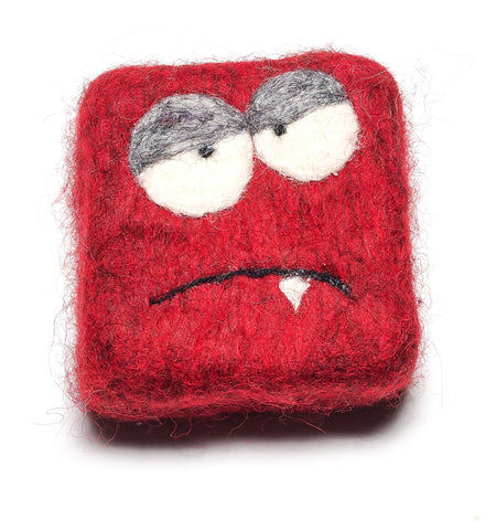 Felted MONSTER Soap in Red