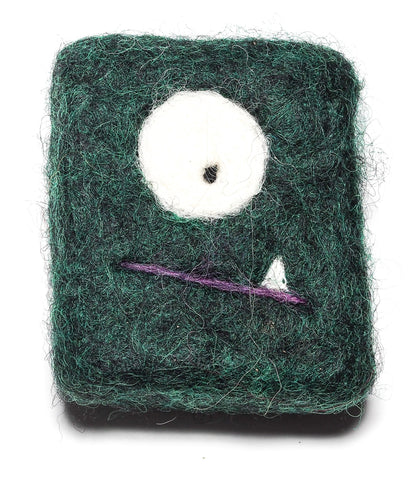 Felted MONSTER Soap Green