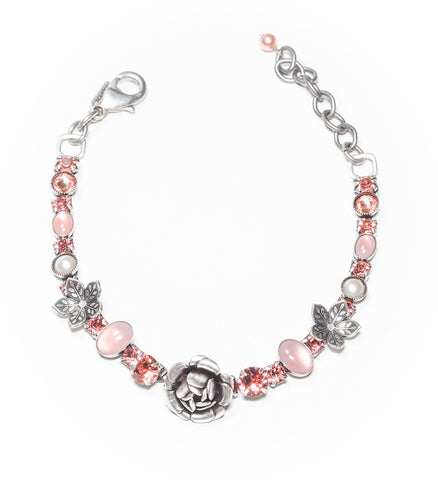 Rose and Crystal Bracelet