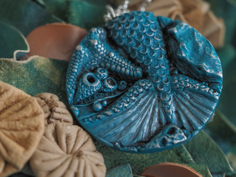 Blue Mermaid Pendant