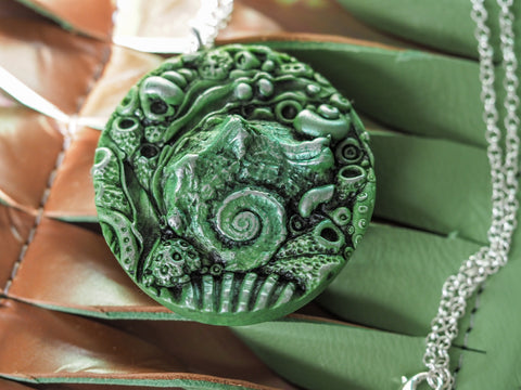 Green Seashell Pendant